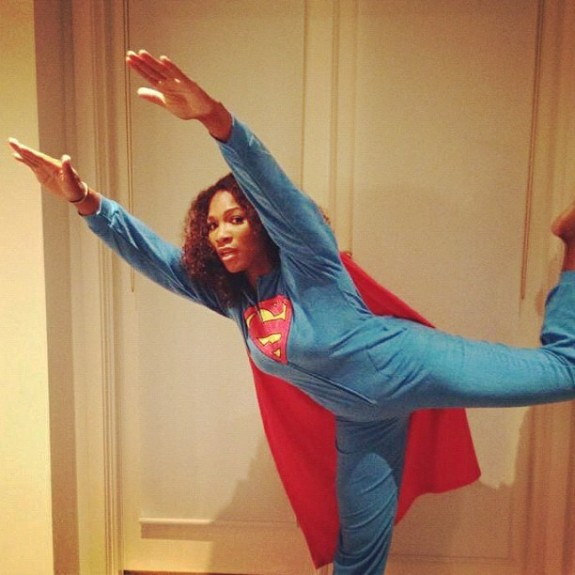 The Assist: Serena Williams Poses In Superman Pajamas [Photo]