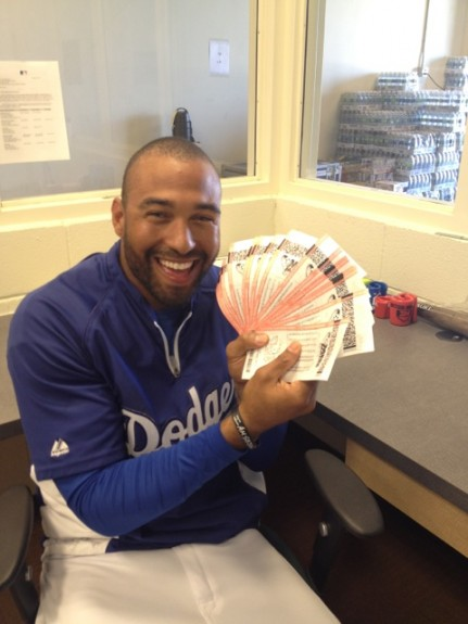The Assist: Dodgers star Matt Kemp wants in on Mega Millions jackpot [photo]