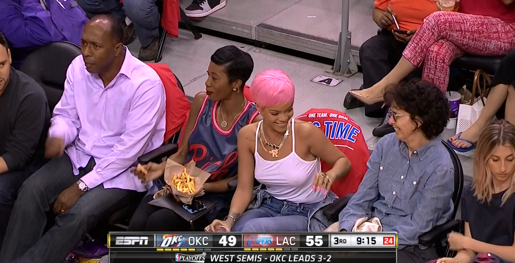 clippers-thunder-Rihanna