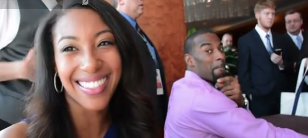 Calvin Johnson&#39-s girlfriend Brittney McNorton works for the Lions ...