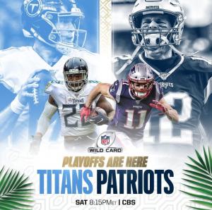 NFL 20 Wildcard playoffs Titans vs Patriots
